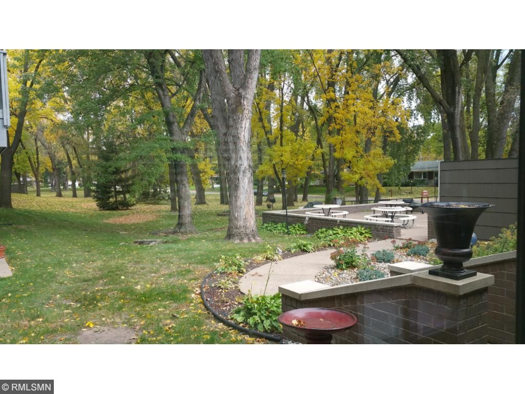 In the warm months this beautiful patio  is used for outdoor picnics and bbq.