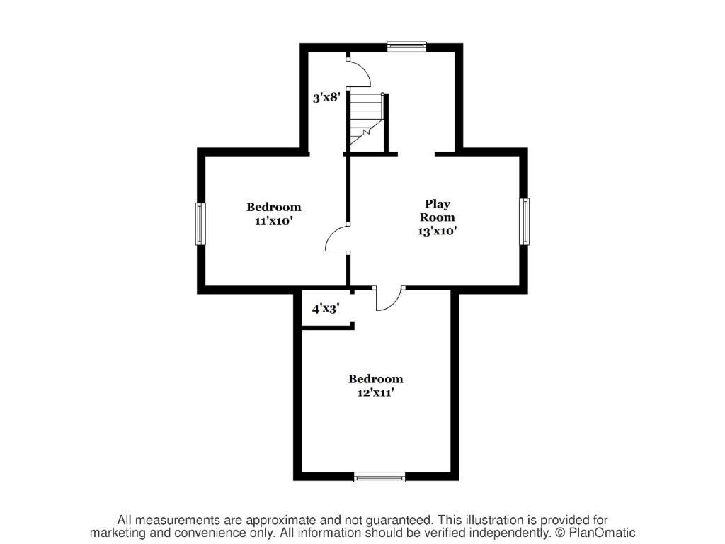Upper level floorplans
