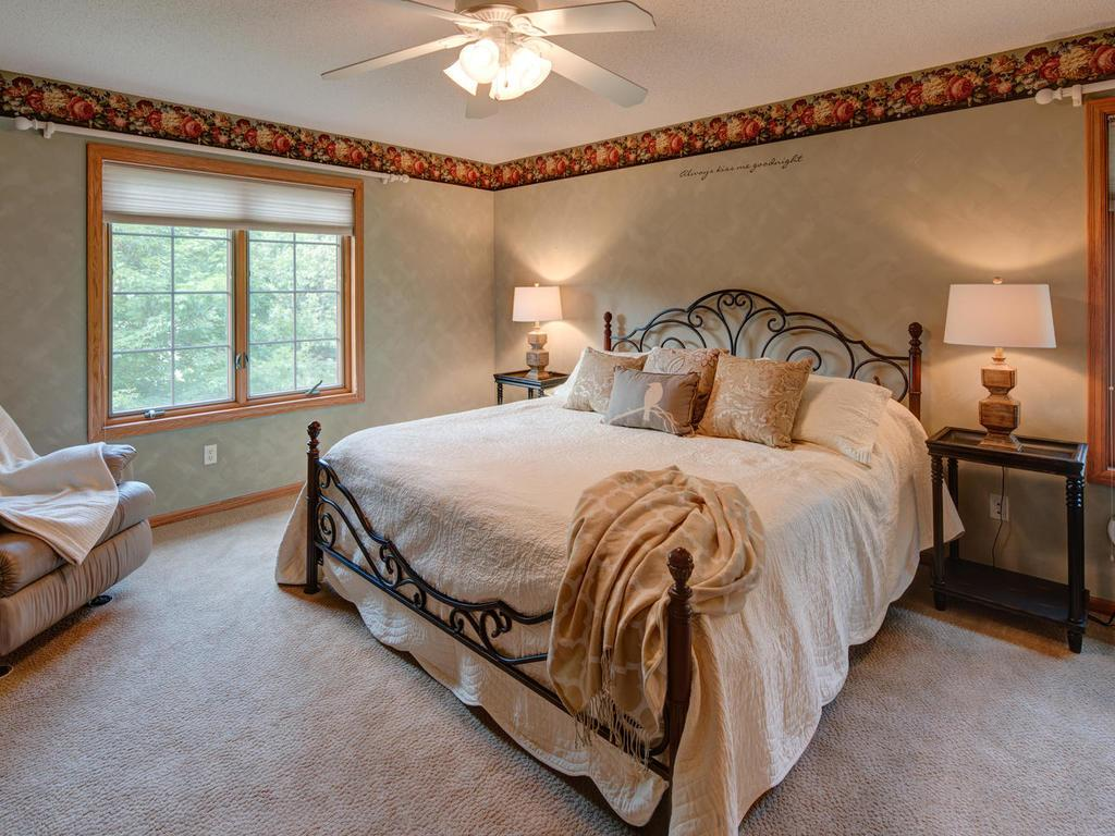 Owners' suite with large walk-in closet and private bath - your private oasis.