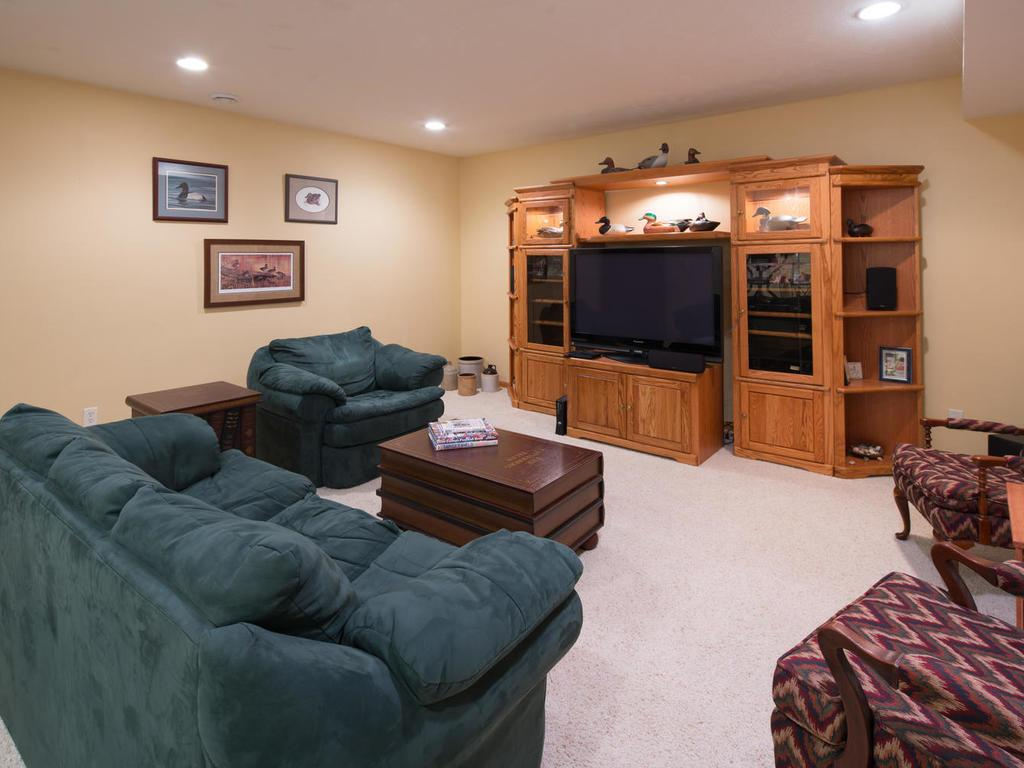 Sports fans, kids, and more will enjoy the additional family room in the lower level.