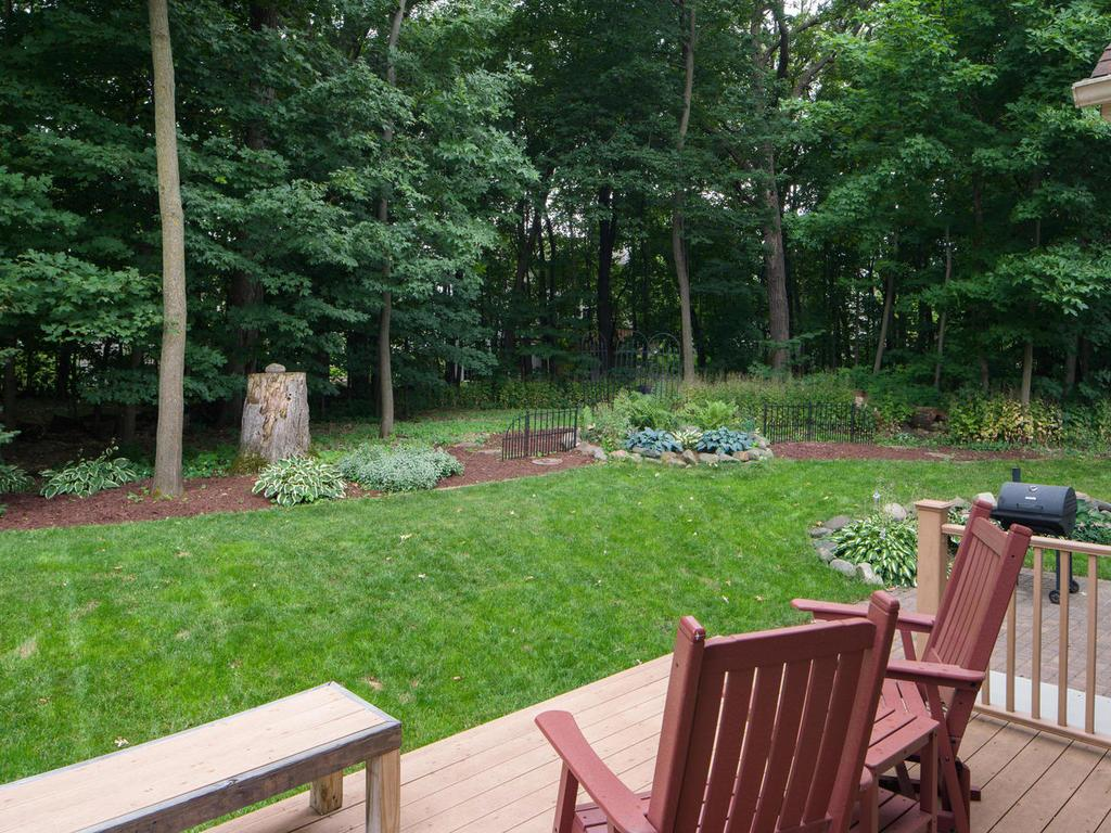 Enjoy views from the deck off your main floor kitchen area.