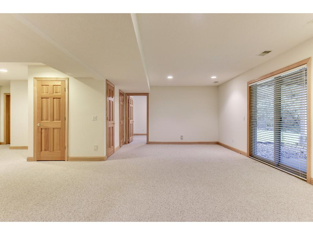 Lower level has large bedroom, 3/4 bathroom and expansive family room area.