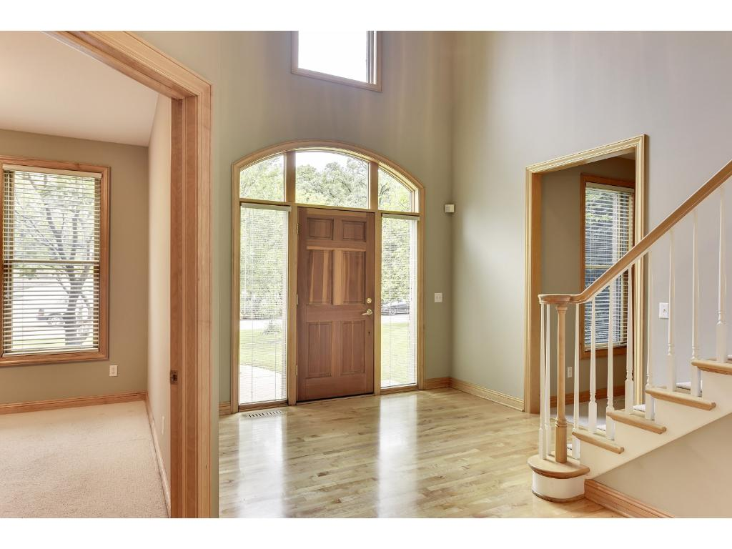 Windows surrounding the door allow natural light to shine in!