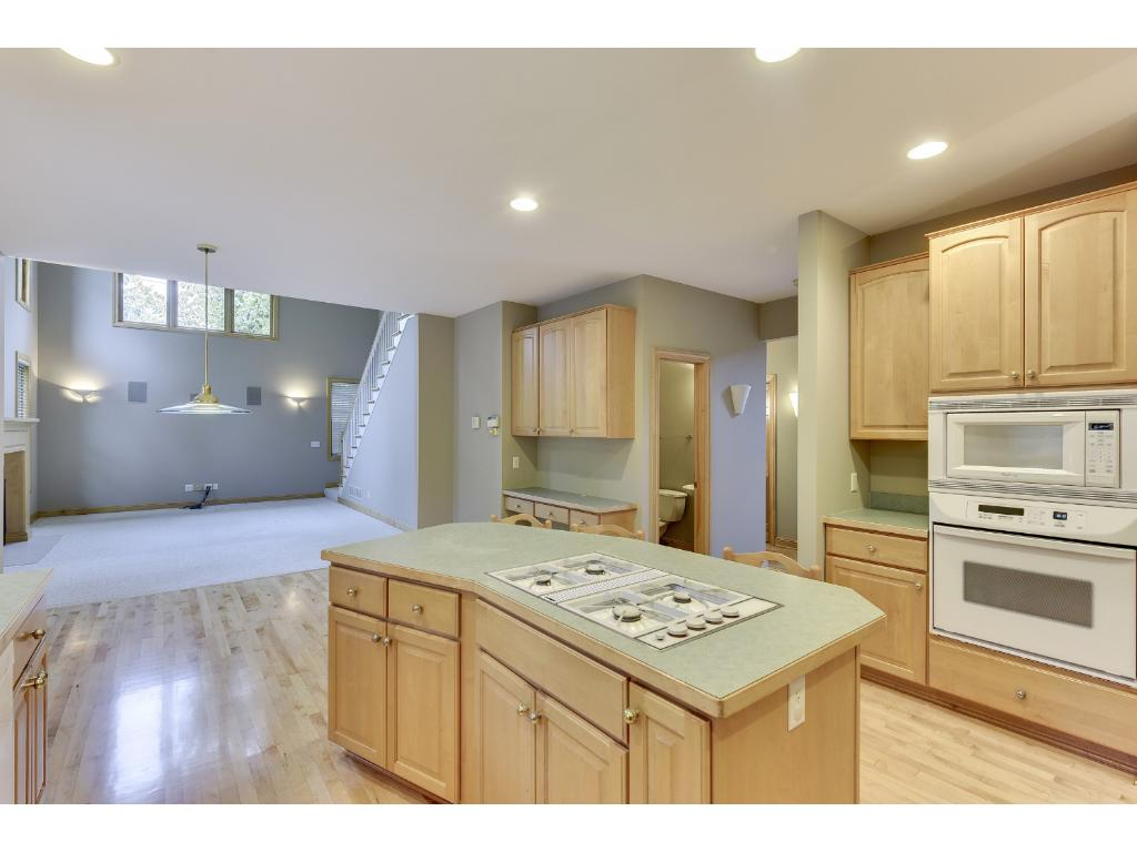 Kitchen opens up nicely to the main level living room.