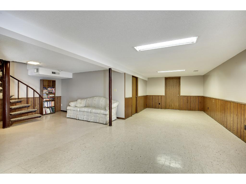 Big recreation room on walkout lower level