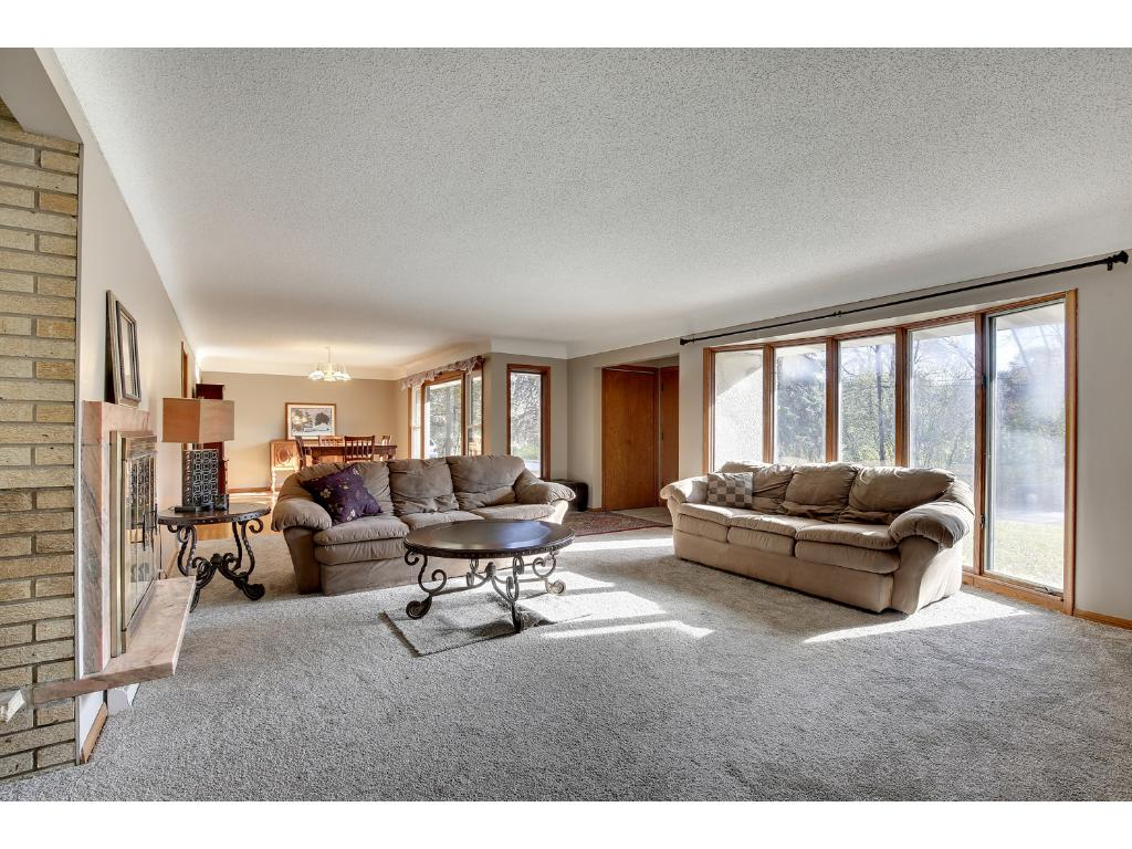 Living Room bright with southeast bay window