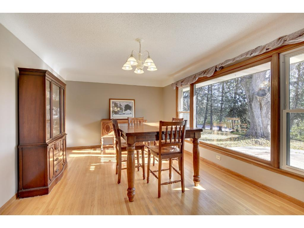Hardwood floors and southeast picture window