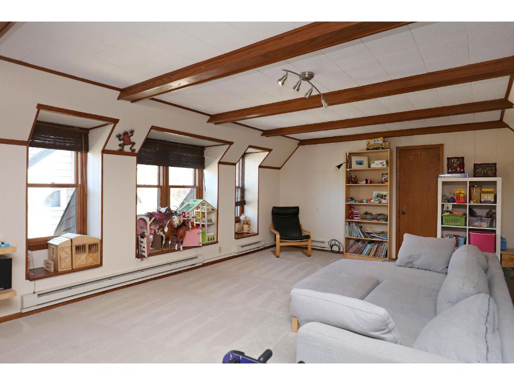 3rd floor family room showing windows for plenty of light