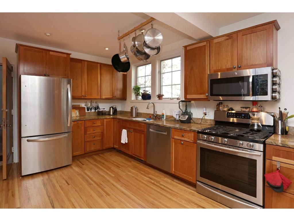 1st Floor kitchen with top of the line stainless steel appliances