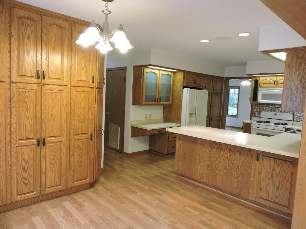 Dining Room/Kitchen view w/ample cupboard space