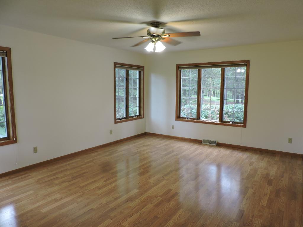Living Room w/laminate floors.