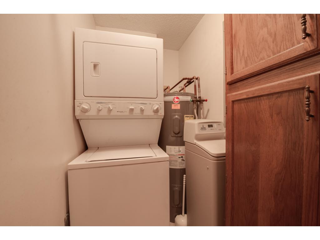 All one level living is possible with laundry facilities located in the unit! Washer & dryer stay with the home.