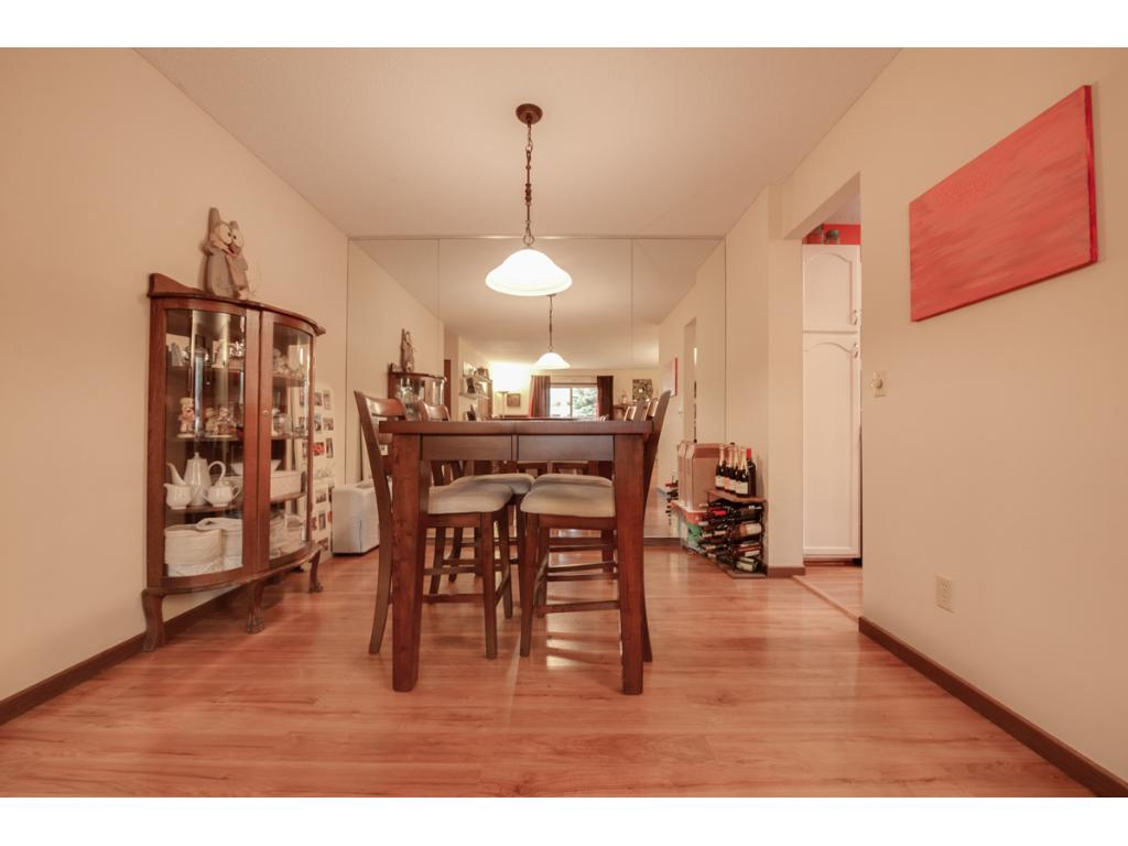 Dining room provides enough space for a large table & chairs. The open floor plan & convenient kitchen location is great for entertaining!