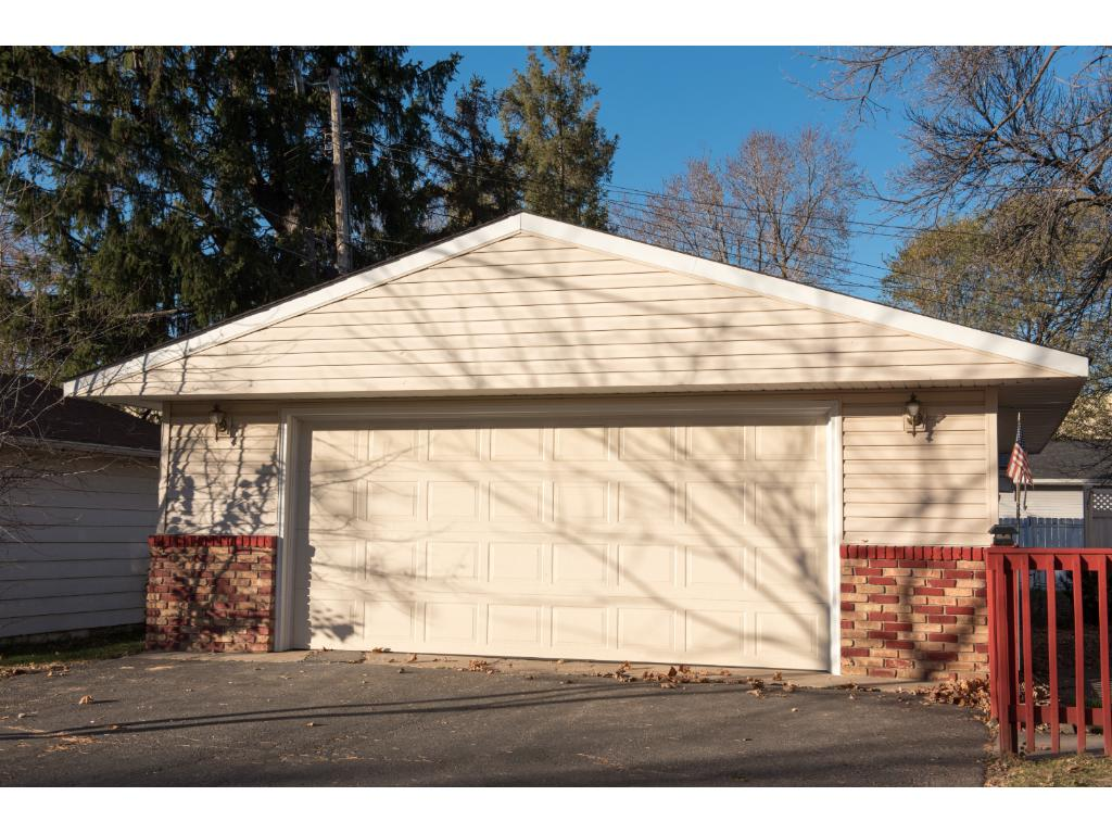 Large 2 car garage - 24 x 26.