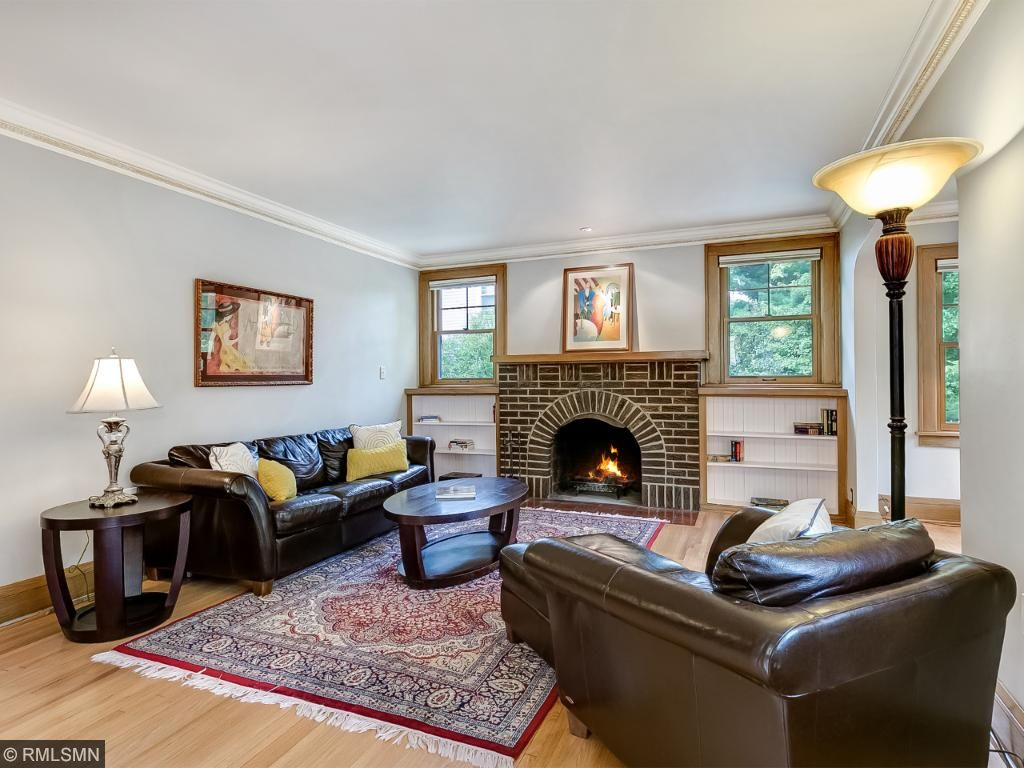 Spacious Living Room With A Wood Burning Fireplace, Hardwood Floors And  Beautiful Crown Molding! Part 34