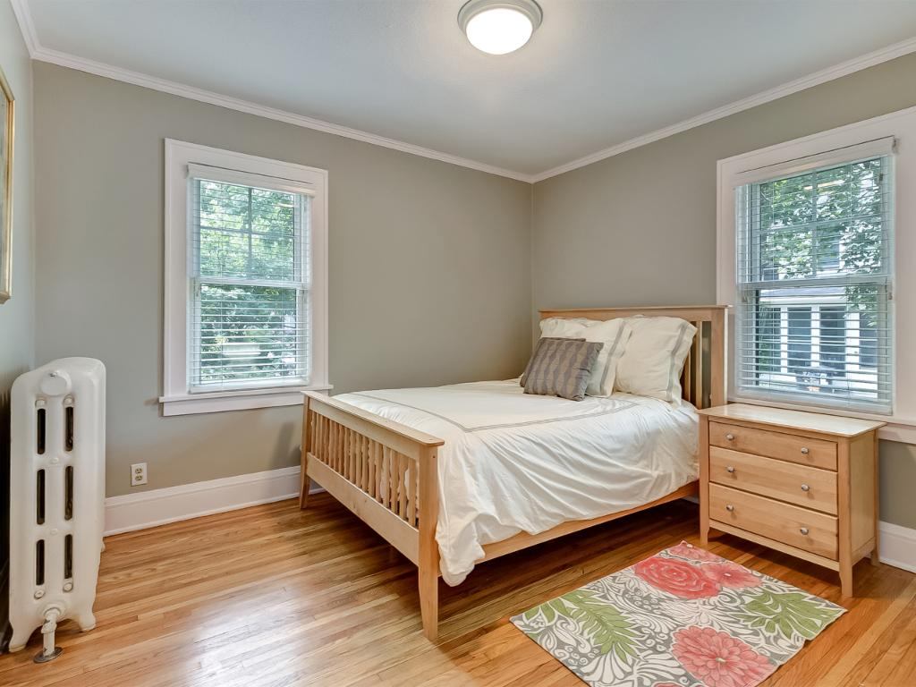Bedroom number one of two that is located on the main floor. Offers great space for a queen size bed.