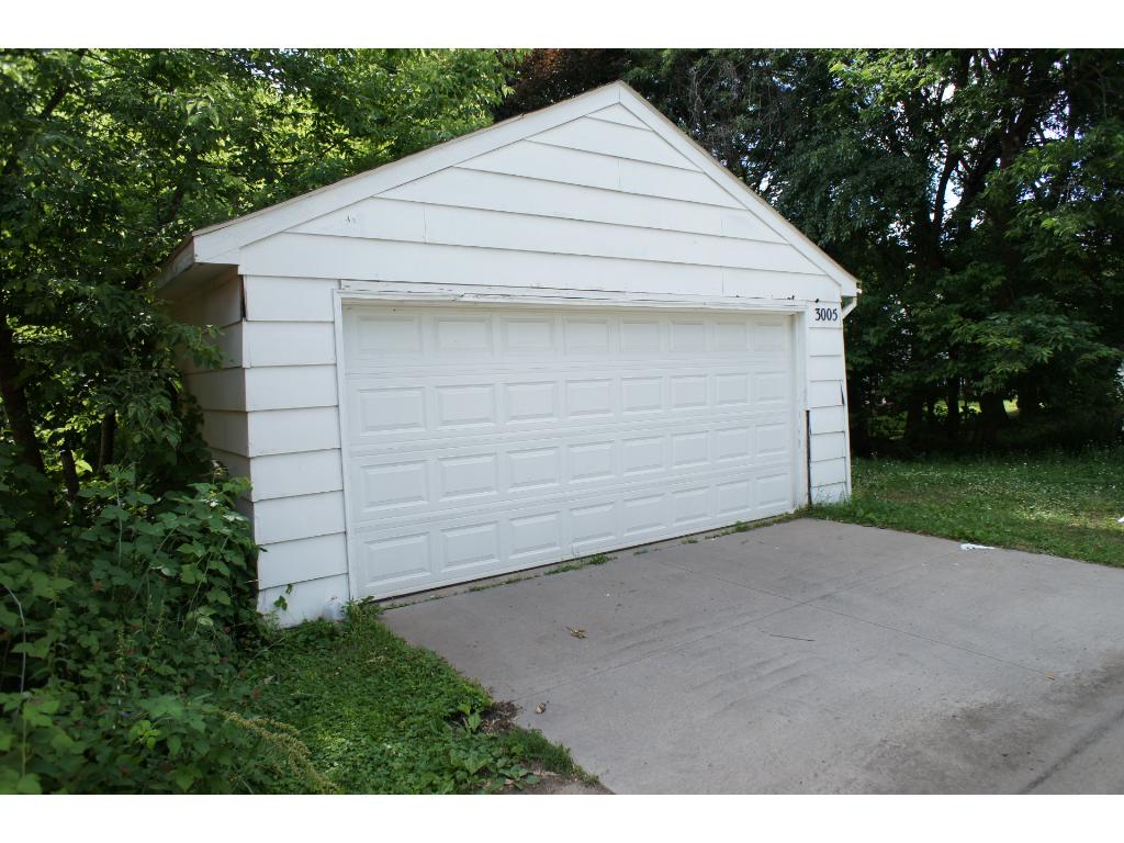 A look at the garage from the alley
