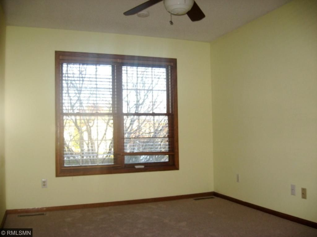 Bedroom 1 ceiling fan new carpet and paint