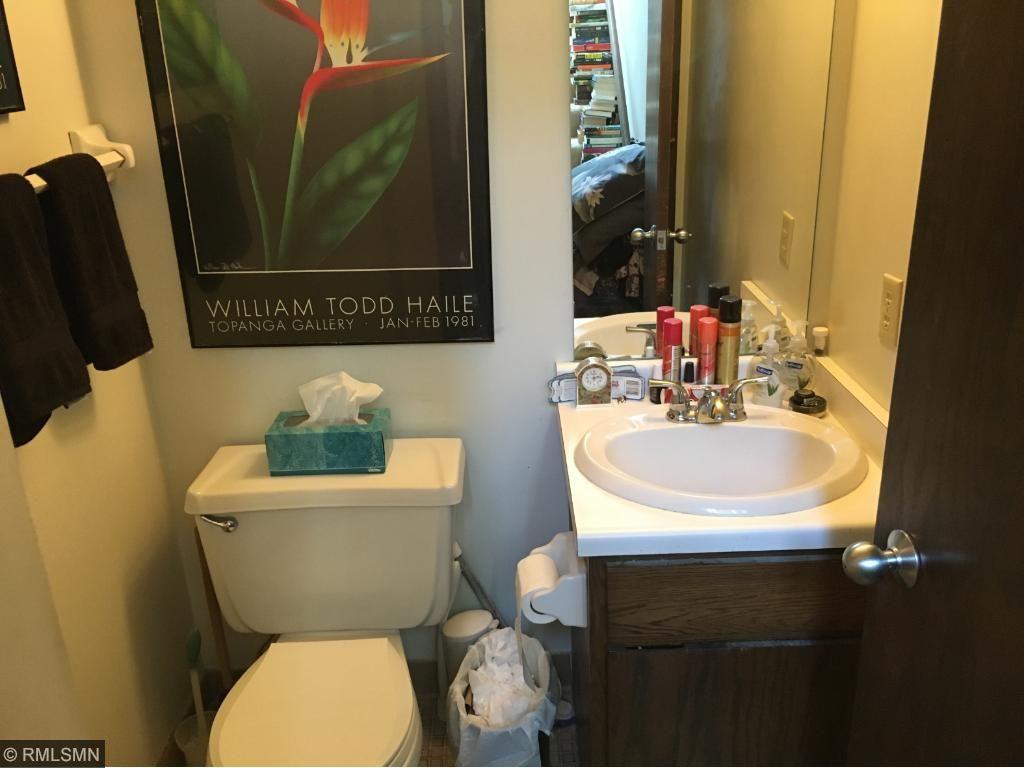 Main living area half bath.
