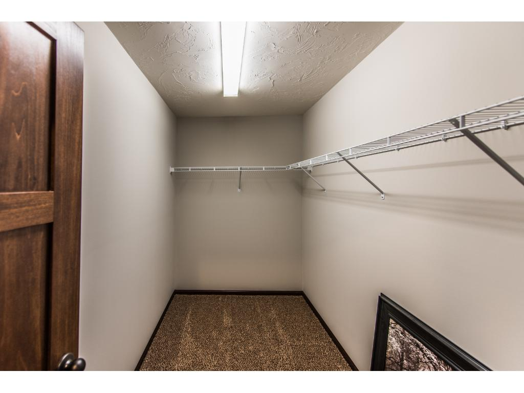 Walk-in master bedroom closet.  There also is separate linen closet
