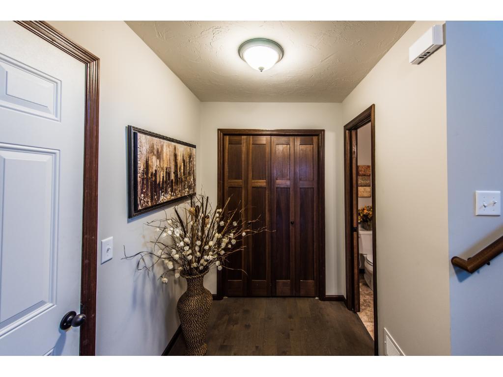 Entry off of garage, closet and half bath