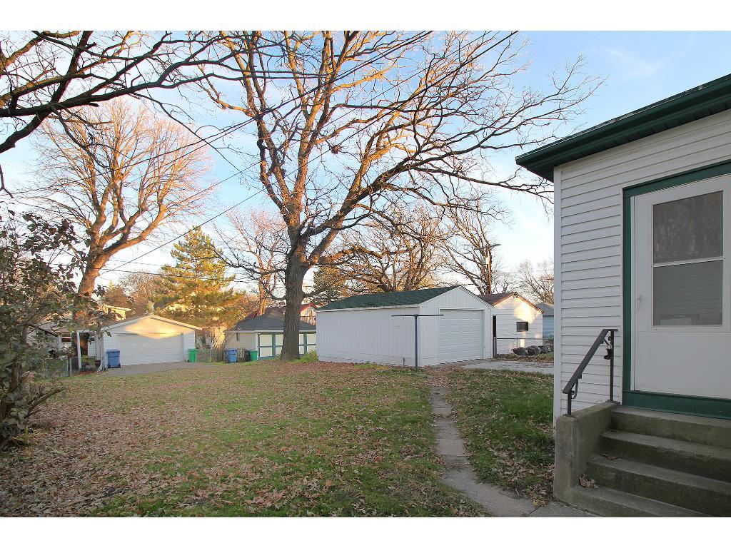 Sidewalk from garage to mud room/porch.