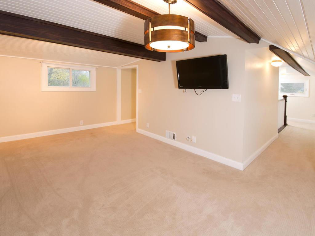 Spacious master suite with sitting area