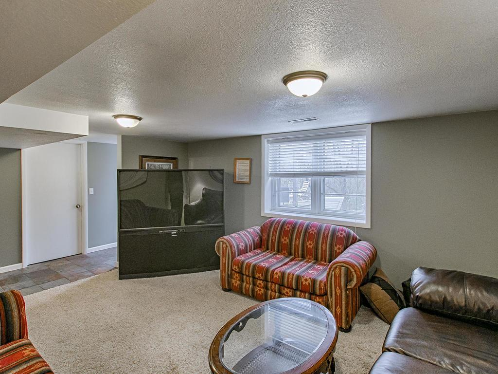 Large family room with access to backyard