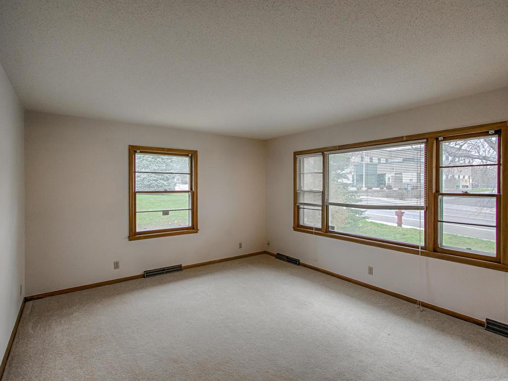 Huge picture window in living room