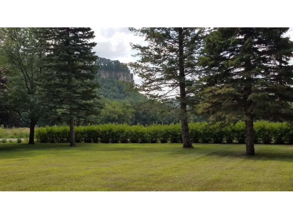 Rattlesnake bluff from the yard is spectacular.