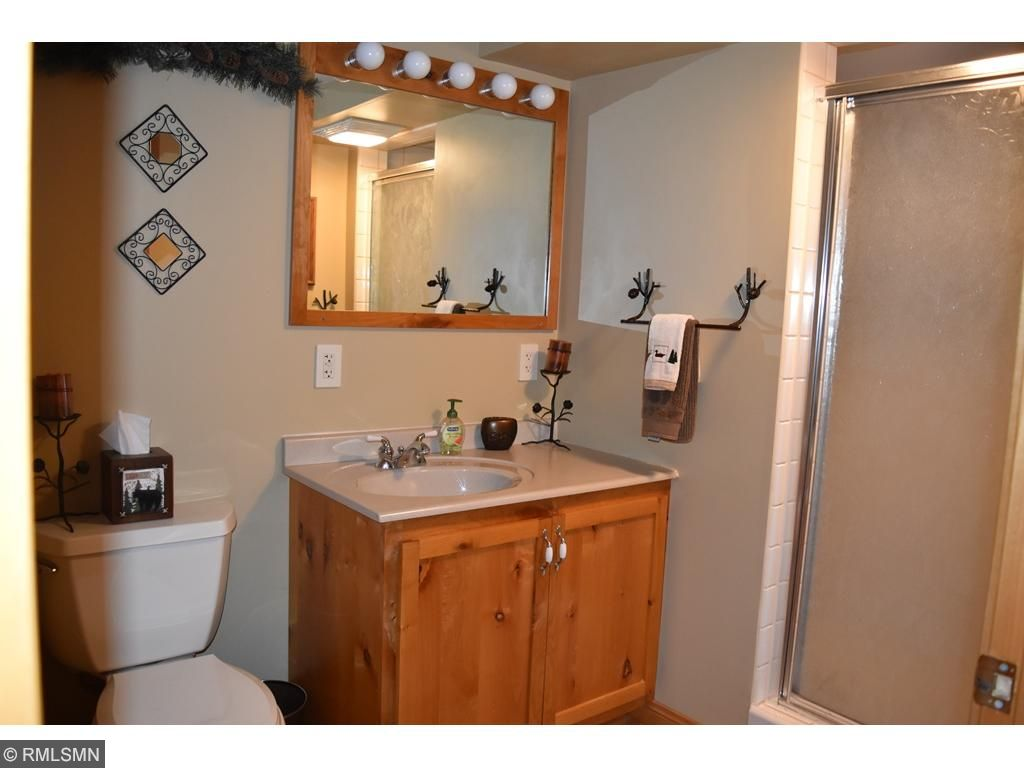 updated 3/4 bath in lower level