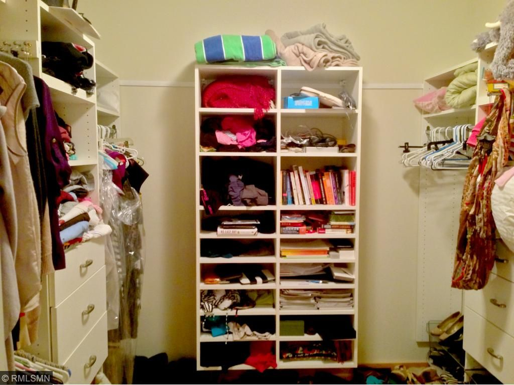 Bountiful space in the master closet.