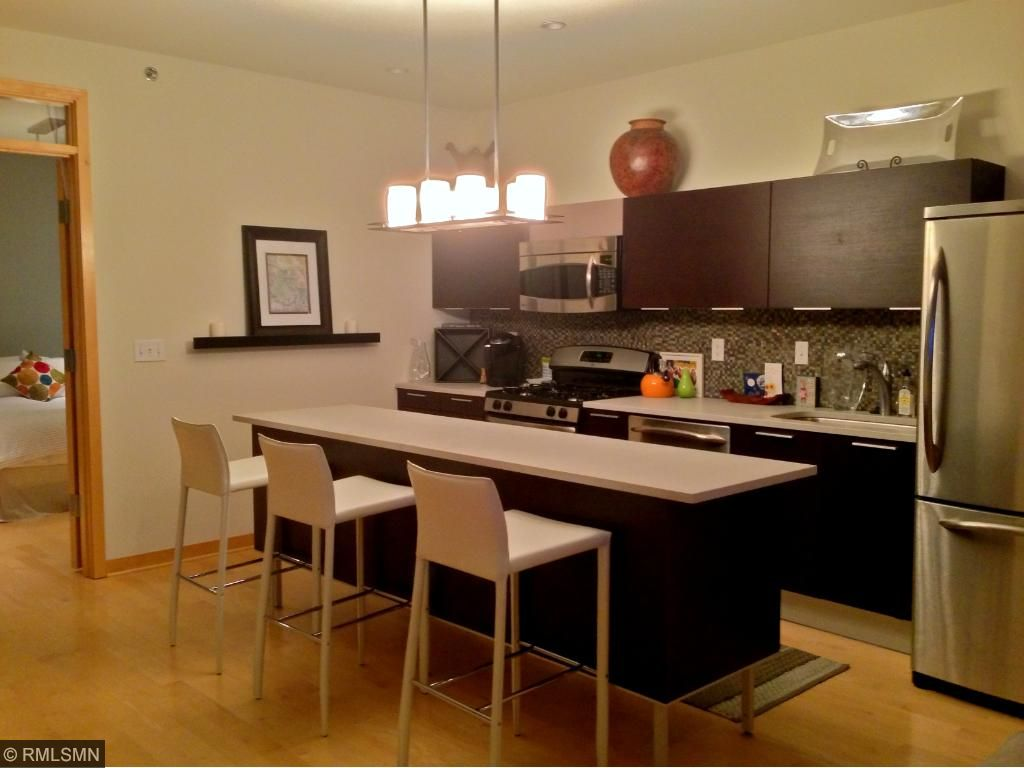 Upgrades throughout the kitchen. Custom backsplash, Valcucine cabinets, granite countertops, you name it!