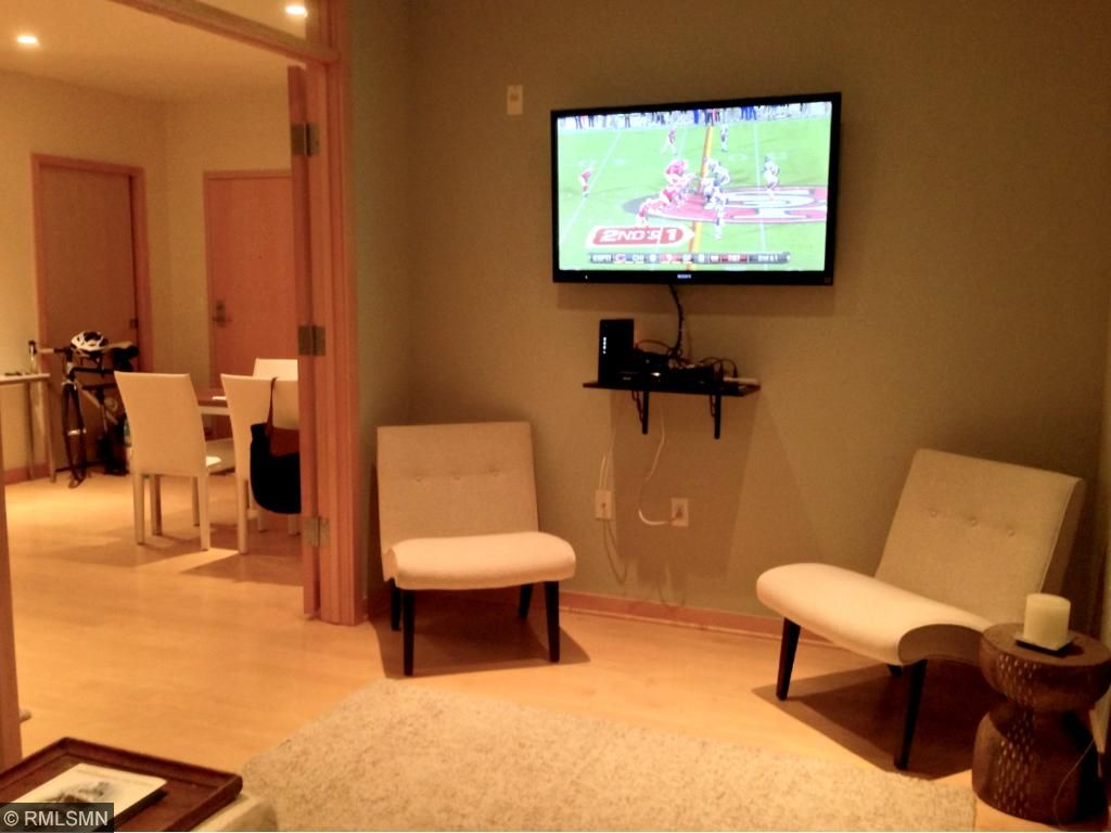 Large 13x9 den has been used as both a media room and guest bedroom.