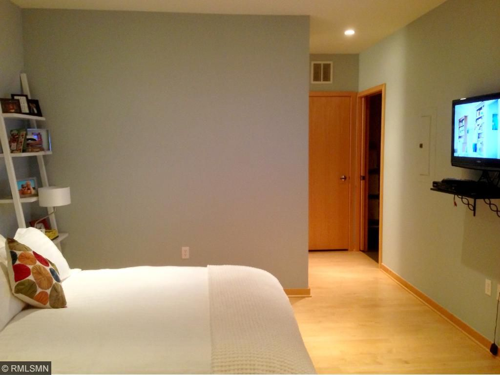 Master bedroom with attached master bathroom and enormous walk-in closet.