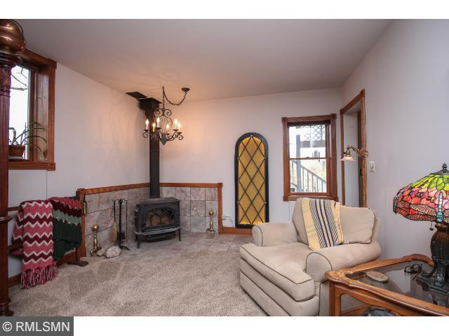 Lower level large family room with wet bar.