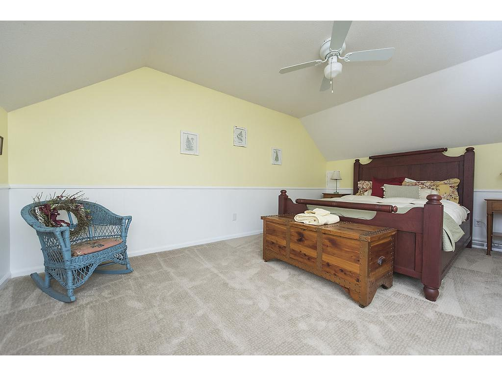 Vaulted guest bedroom - once again, spacious and accommodating.