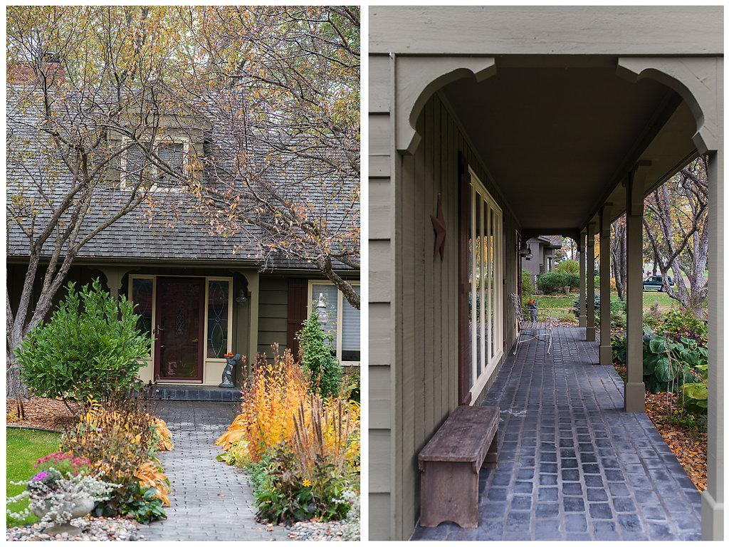 You won't want to leave this porch!  Covered from the elements and about as cute as can be - remarkable curb appeal!