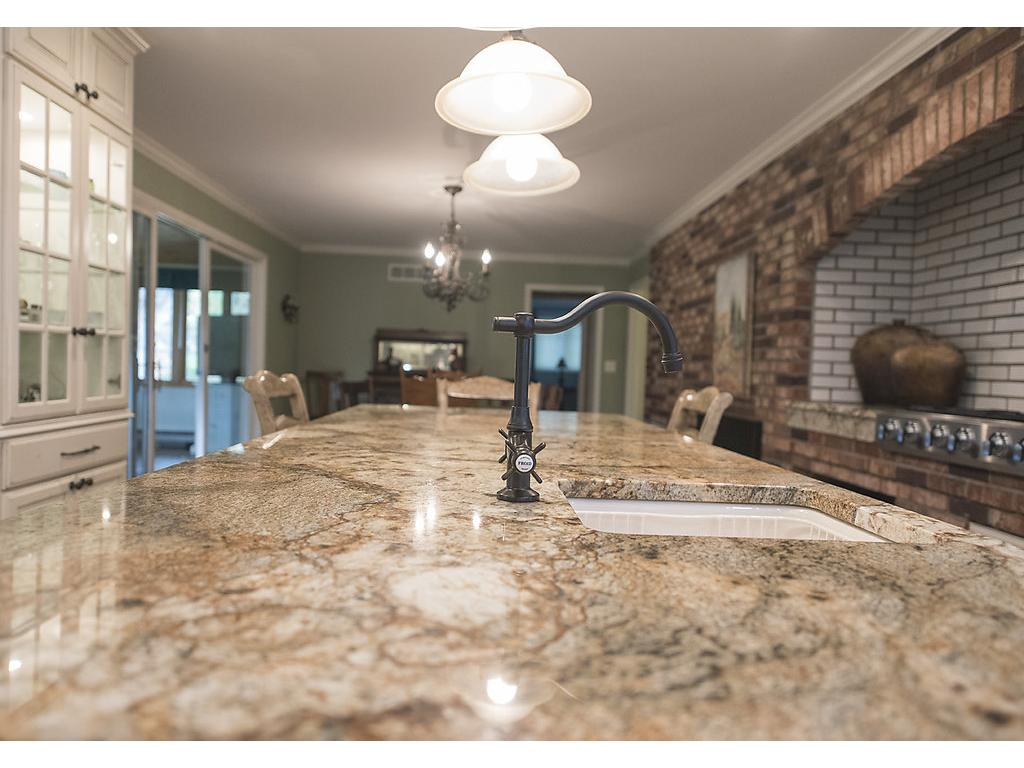 You'll love the color and character of this granite island!