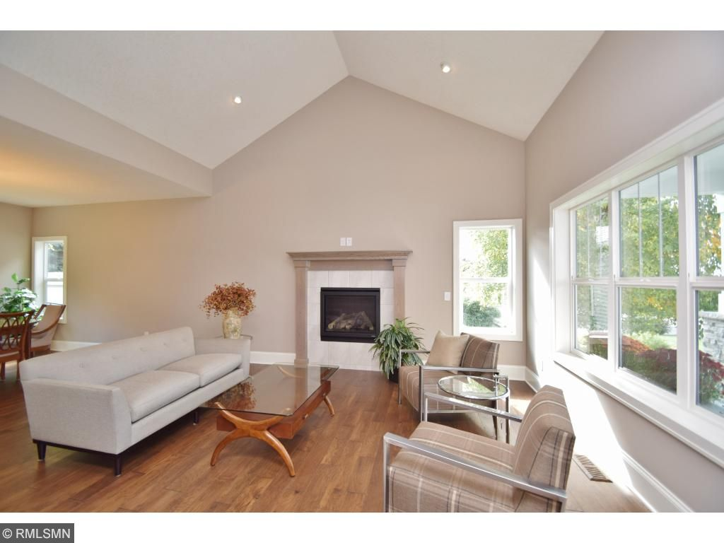 Vaulted living room w/gas fireplace for those cozy nights!