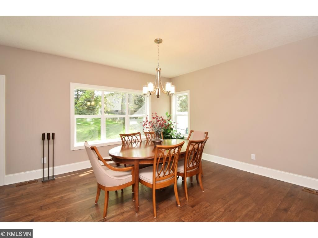 Spacious light filled dining room!