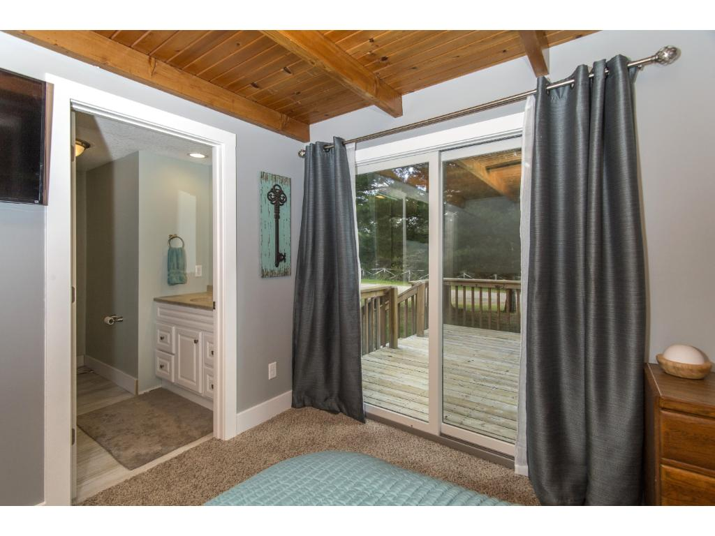 Enjoy your coffee in the morning on the deck off the master bedroom