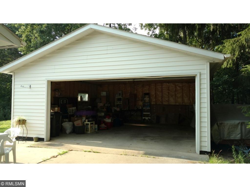 Detached insulated 2-car garage, shingled October 2016