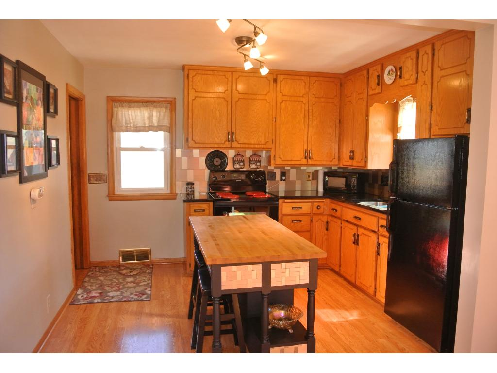 Open Kitchen with Granite Counter-tops