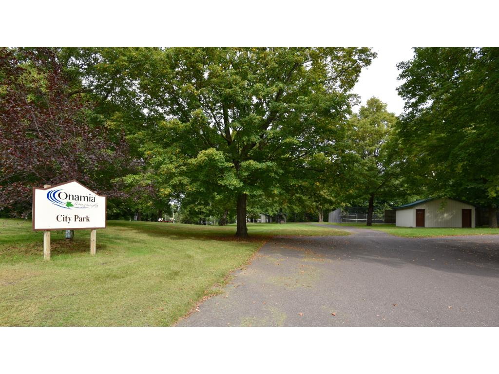 Entrance to beautiful Onamia City Park just across the street from this property.