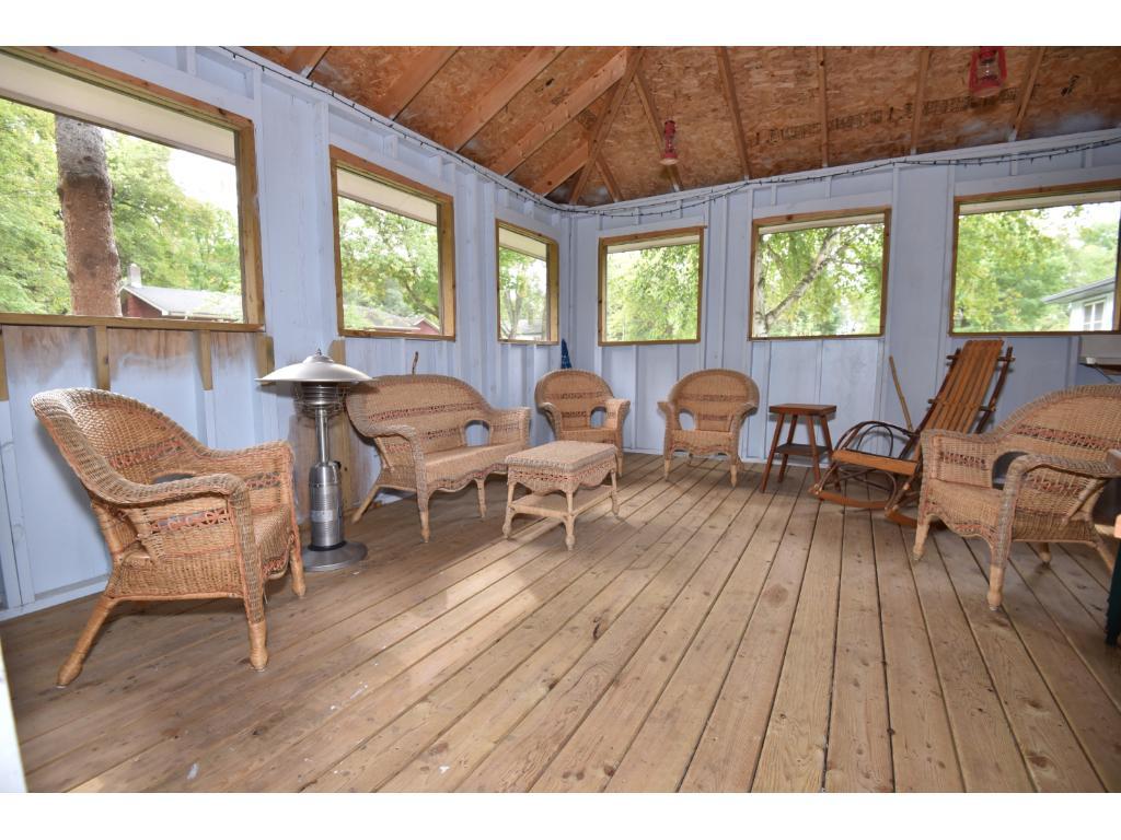 Interior view of detached 3 season screen porch/gazebo.