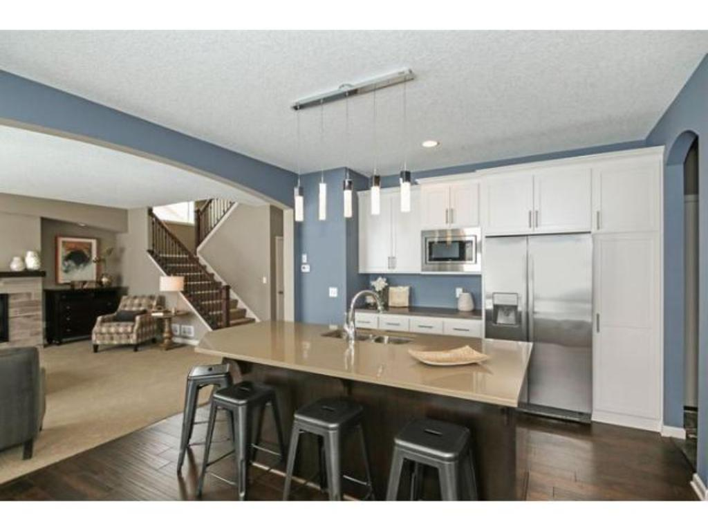 Large kitchen and dining area.  Photo is of previous model.