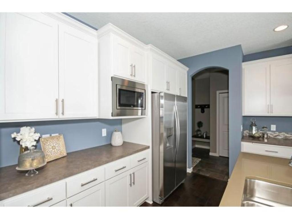 Wonderful working kitchen.  Photo is of previous model.
