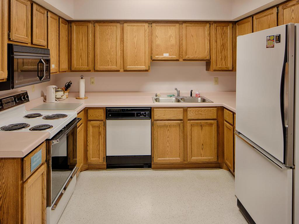 The full kitchen in the Community Room makes it easy to host larger events and parties.