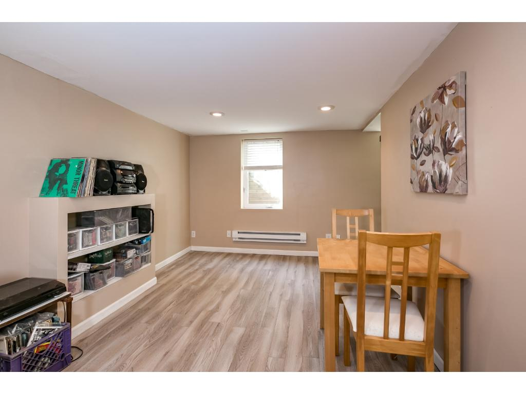 Lower level bedroom with egress window and a nice large closet!